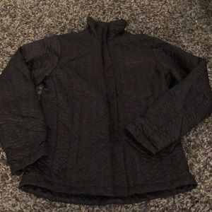 Columbia black interchange quilted jacket  EUC!